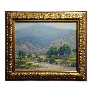 Russell Shears -California Desert Landscape-Oil Painting-C1930s For Sale