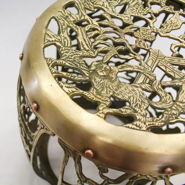 Asian Brass Chinosiere Garden Stool - Image 7 of 9