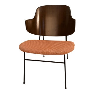 Mid Century Modern Ib Kofod-Larsen Iron Base Penguin Chair For Sale