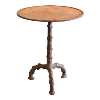 Faux Bois Gueridon Table For Sale