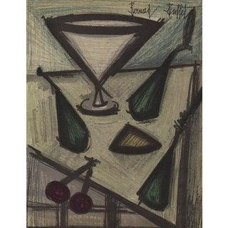 Bernard Buffet Still Life With Fruit Original Lithograph For Sale