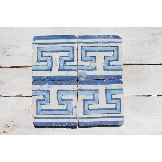 18th Century Greek Style Baroque Tiles - Set of 4 For Sale - Image 13 of 13