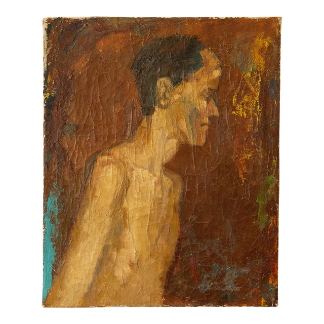 Antique Nude Oil Painting For Sale