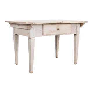 Swedish Bleached Oak Side Table For Sale
