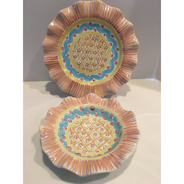 """Ceramic Victoria & Richard Mac Kenzie Child's """"Summer Frock"""" Plate & Bowl - a Pair For Sale - Image 7 of 7"""