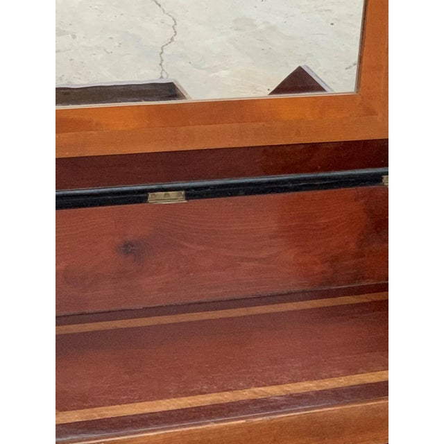 19th Rosewood Art Deco Open Up Vanity or Secretary Desk. Dressing Table For Sale - Image 10 of 11