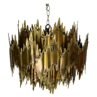 Tom Greene for Feldman Brutalist Chandelier