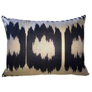 Triple Ikat Silk Atlas Pillow For Sale