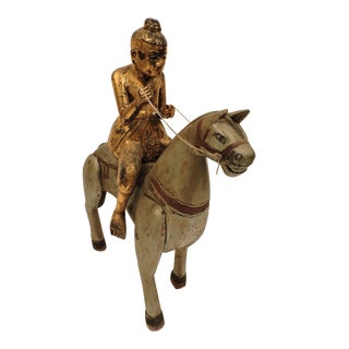Rare Gold Nat on A Horse For Sale