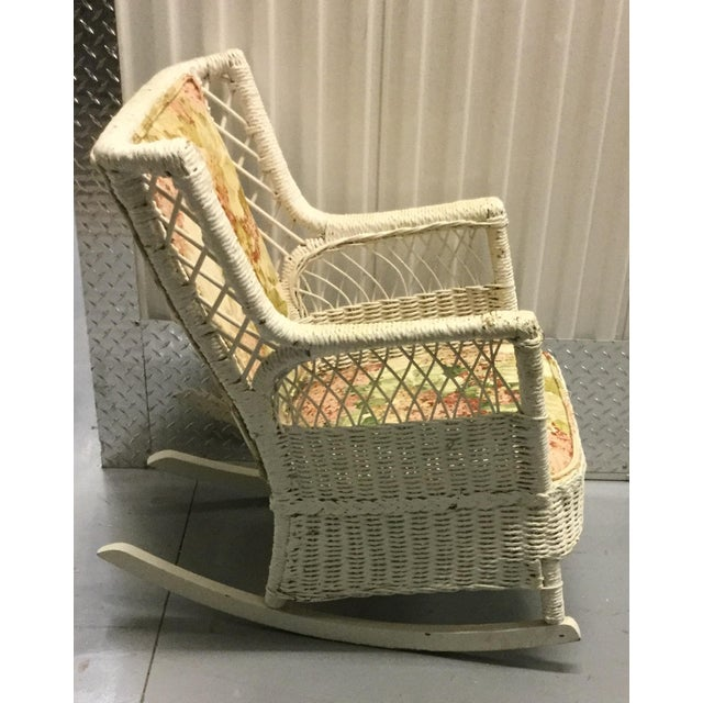 Vintage Wicker Rocking Chair - Image 4 of 10