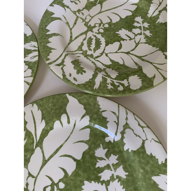 Roscher Ambiance Collection Green Dinner Plates - Set of 4 For Sale - Image 4 of 9