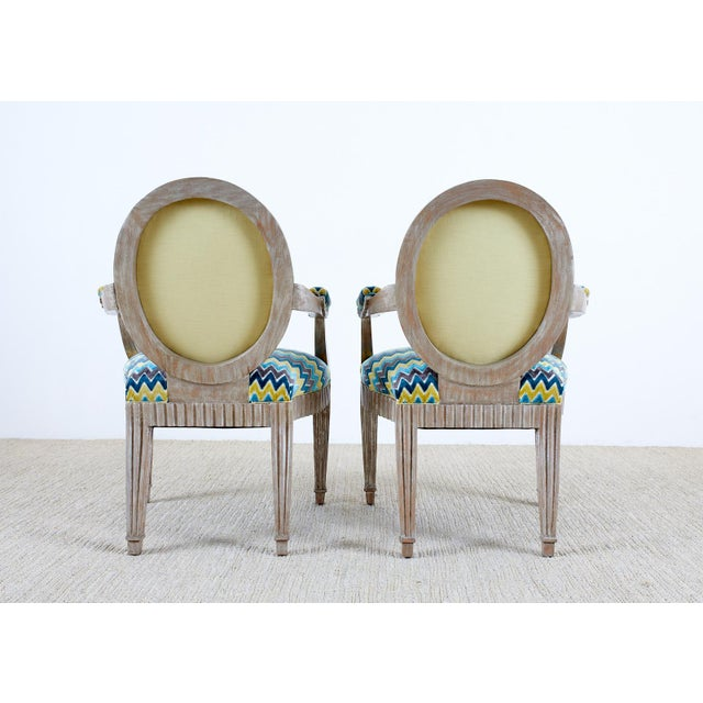 Late 20th Century John Hutton for Donghia Silvered Dining Chairs - Set of 10 For Sale - Image 11 of 13