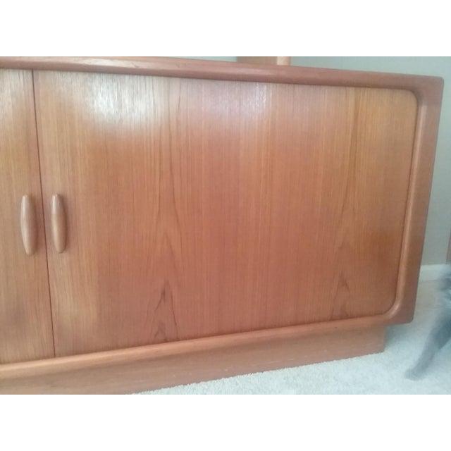 Dyrlund Scandinavian Teak Tambour Storage Sideboad & Dislay Cabinet ( 2 Pieces) - Image 3 of 6