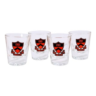 Vintage Princeton Shot Bar Cocktail Whiskey Glasses - Set of 4 For Sale