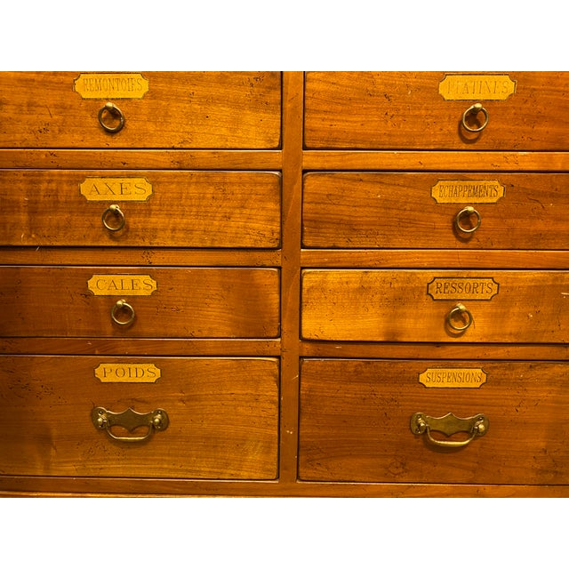 Gold French Oak Apothecary Cabinet For Sale - Image 8 of 13