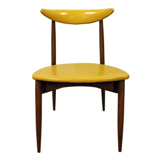Mid-Century Danish Modern Seymour James Wiener Curved Back Stiletto Side Chair For Sale