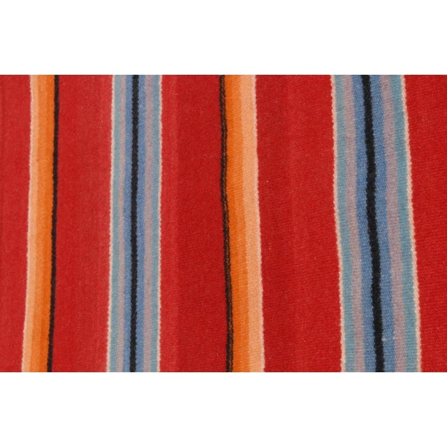 Vintage Mexican Saltillo Serape Throw For Sale - Image 5 of 5