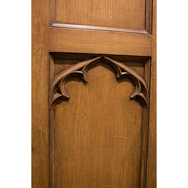 Gothic English Gothic Armoire For Sale - Image 3 of 5