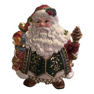 Fitz and Floyd Classics Santa Cookie Jar For Sale