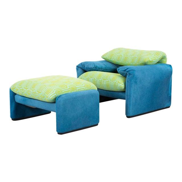 Vico Magistretti Maralunga Chair + Ottoman For Sale