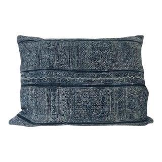 """Vintage Patterned Batik Pillow - 19"""" X 25"""" For Sale"""