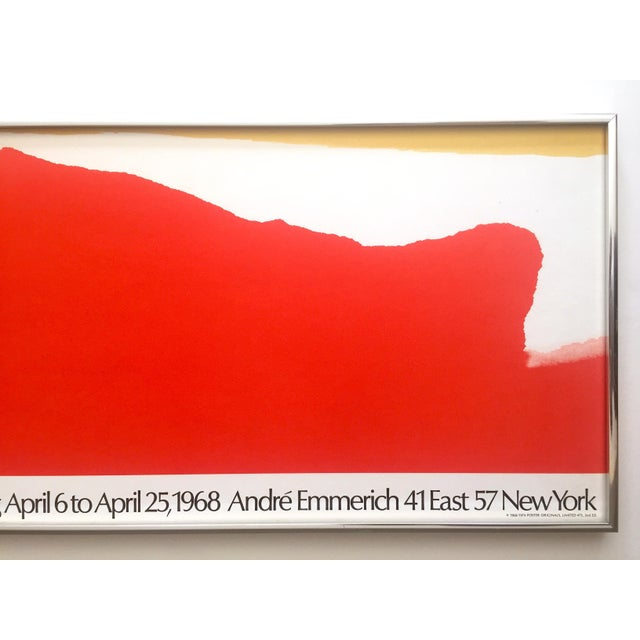 Abstract Helen Frankenthaler Rare 1974 Mid Century Modern Abstract Expressionist Lithograph Print Framed Exhibition Poster For Sale - Image 3 of 13
