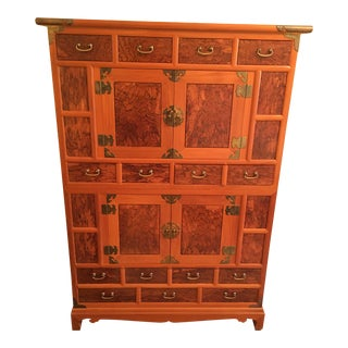 Early 20th Century Korean Tansu Chest Cabinet With Drawers For Sale