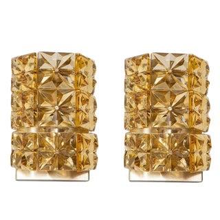 1960s Vintage Austrian Crystal Sconces- A Pair For Sale
