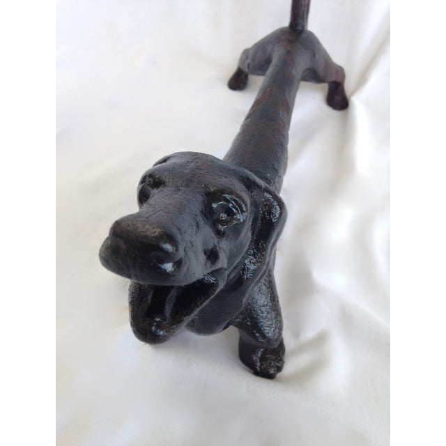 Cast Iron Dog Andirons or Door Stops - Image 8 of 8