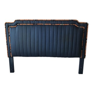 Queen Tufted Navy Blue Headboard