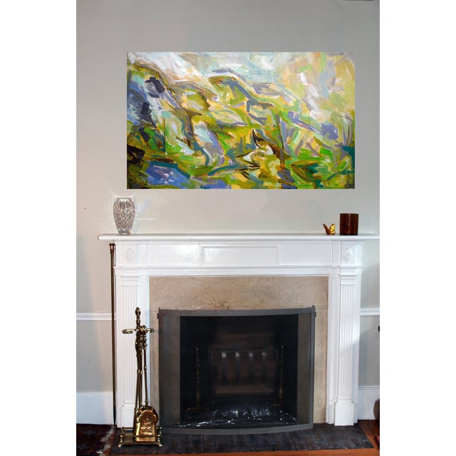 "Abstract Oil Painting by Trixie Pitts 36""x60"" - Image 3 of 4"