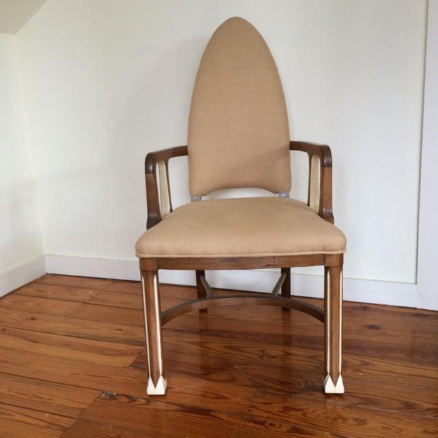 Tan 1920's Metropolis Armchair For Sale - Image 8 of 11