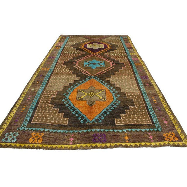 52038 Vintage Turkish Oushak Gallery Rug, Wide Hallway Runner, 06'02 x 11'04. Add personality to your space with a modern...