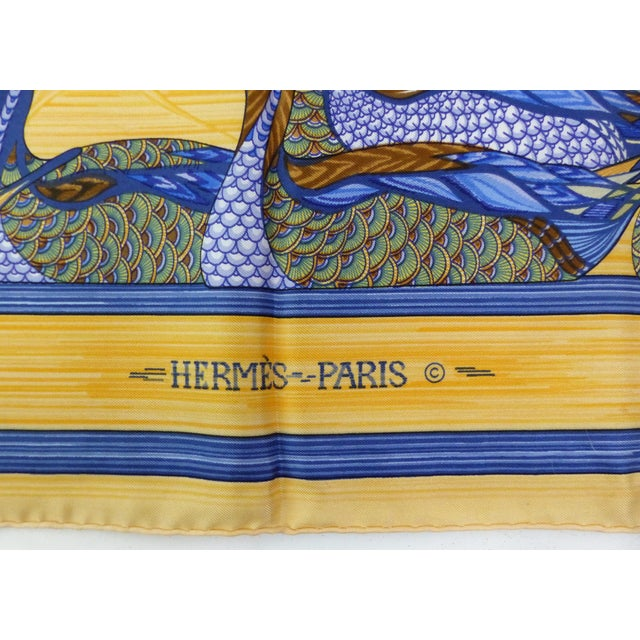Country 1981 Unused Hermès La Mare Aux Canards Scarf For Sale - Image 3 of 8