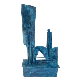 Mid-Century Modernist / Cubist Abstract Sculpture For Sale