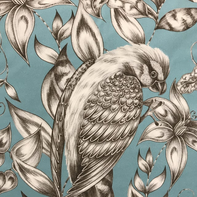 Blue Bird & Floral Pillow - Image 3 of 4