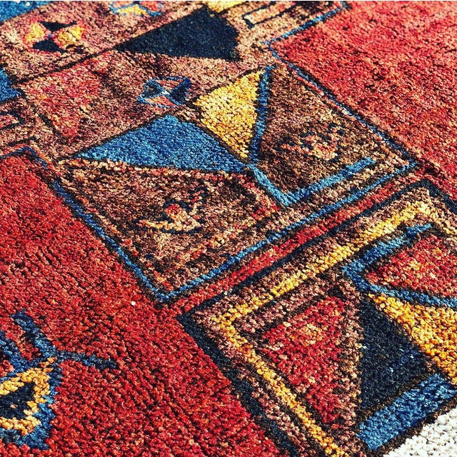1950s 1950s Vintage Persian Kurdish Runner Rug - 4′7″ × 12′2″ For Sale - Image 5 of 13