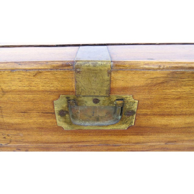 Early 19th Century Camphor Wood Campaign Chest on Stand For Sale In Denver - Image 6 of 9