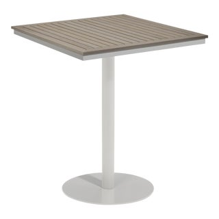 "38"" Square Outdoor Bar Table, Vintage For Sale"