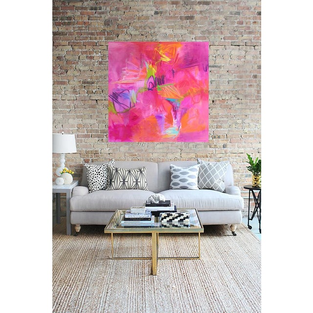 """""""Martini"""" Large Abstract Oil Painting by Trixie Pitts - Image 2 of 5"""