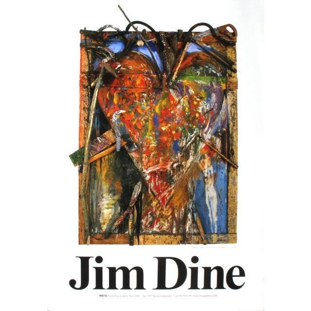 "Pop Art Jim Dine Thorns 39.25"" X 27.5"" Poster 1987 Pop Art Brown For Sale - Image 3 of 3"