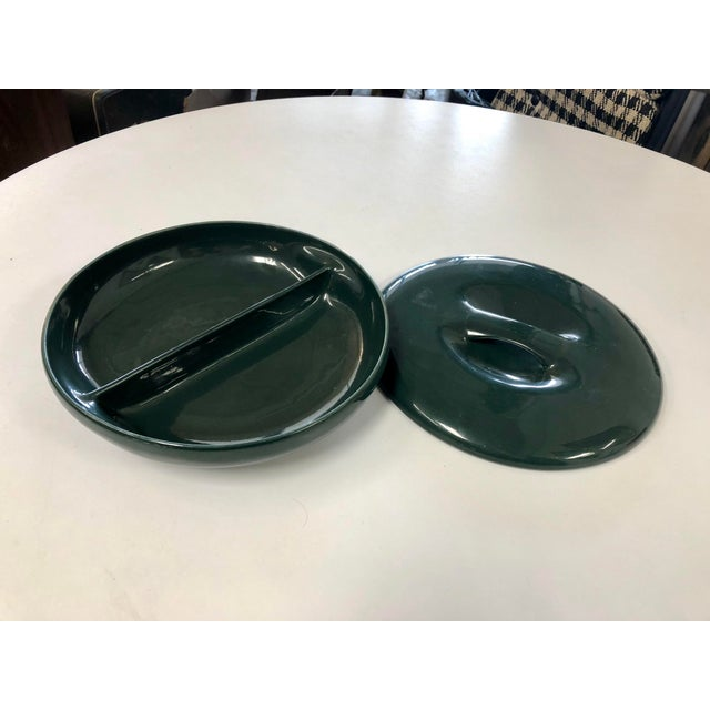 Mid-Century Modern Vintage Russell Wright Iroquois Emerald Cassarole Dish For Sale - Image 3 of 7