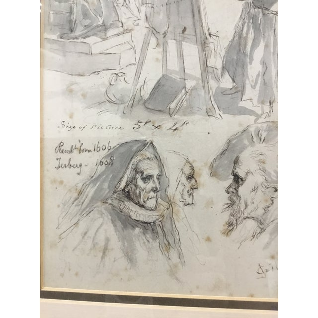 Mid 19th Century Original Pen and Ink Study Drawing by Sir John Gilbert For Sale - Image 5 of 11