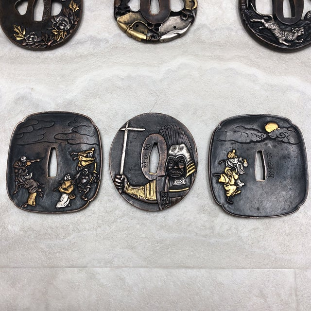 Vintage Japanese Tsuba's - Set of 6 For Sale - Image 11 of 12