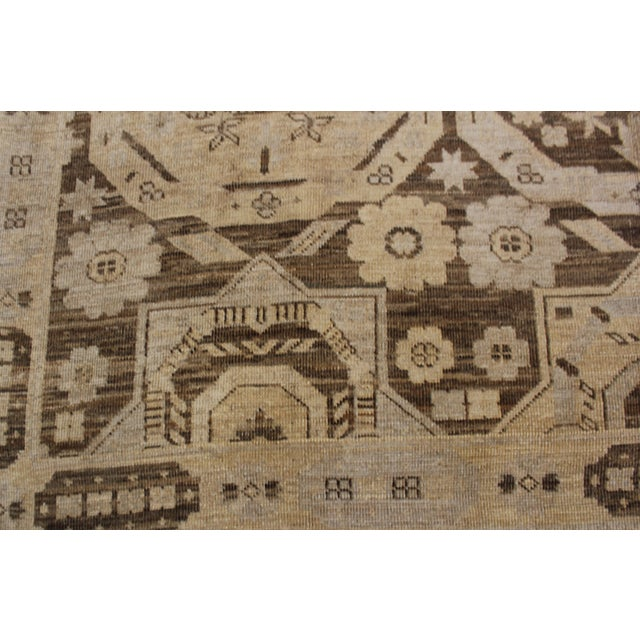 "Hand Knotted Fine Oushak Rug by Aara Rugs Inc. - 8'11"" X 13'1"" For Sale - Image 4 of 5"