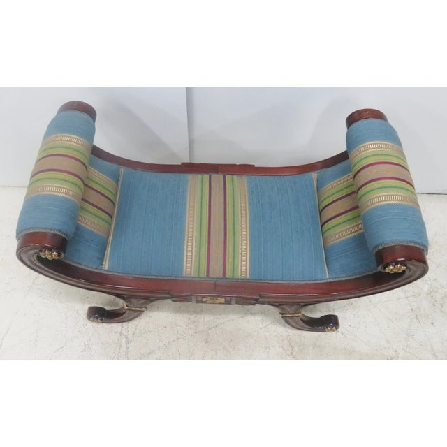 Wood Mahogany Regency Style Window Bench For Sale - Image 7 of 9