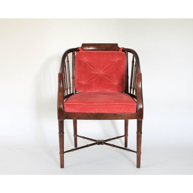 Faux Bamboo Armchair - Image 3 of 8