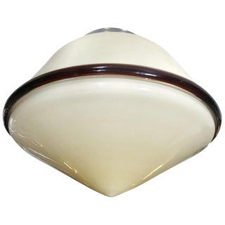 Italian Cream Color Murano Glass Flush Mount by De Majo For Sale