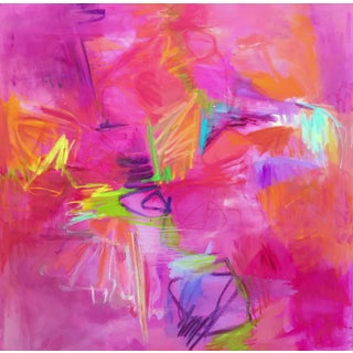 """""""Martini Time"""" by Trixie Pitts Large Abstract Expressionist Oil Painting For Sale"""