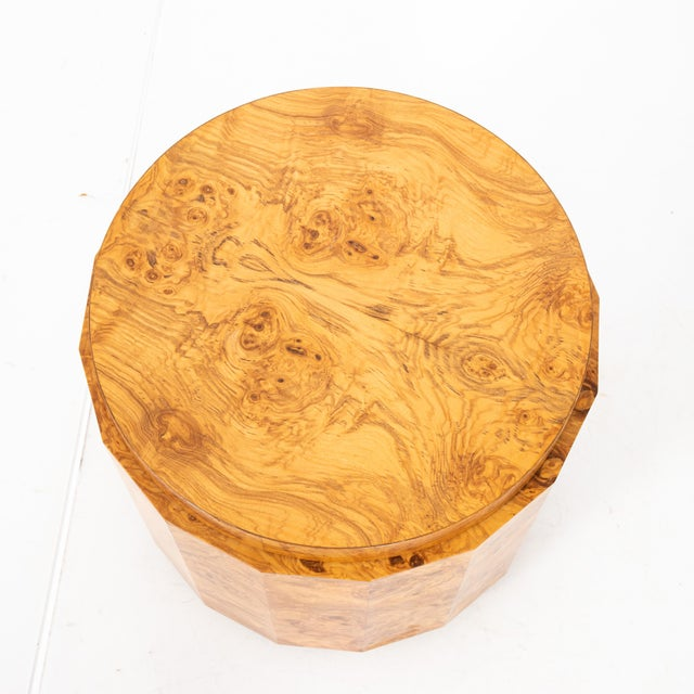 Mid-Century Modern Mid-Century Modern Edward Wormley for Dunbar Burl Olive Wood Side Table For Sale - Image 3 of 9
